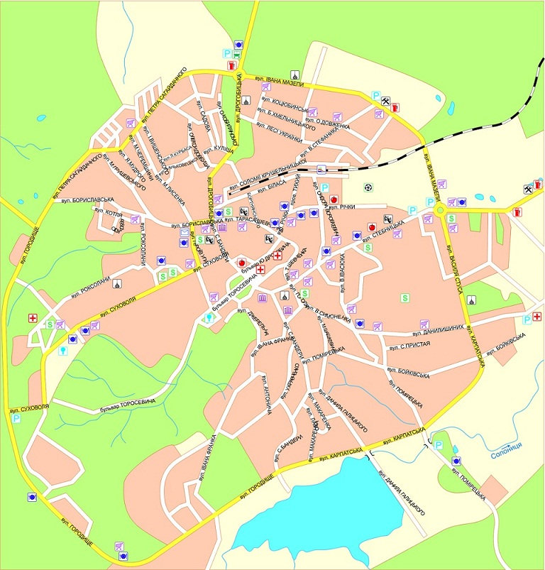 Truskavets-map